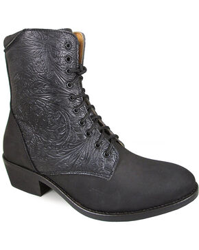 "Smoky Mountain Women's Black 6"" Lacer Boots - Round Toe , Black, hi-res"