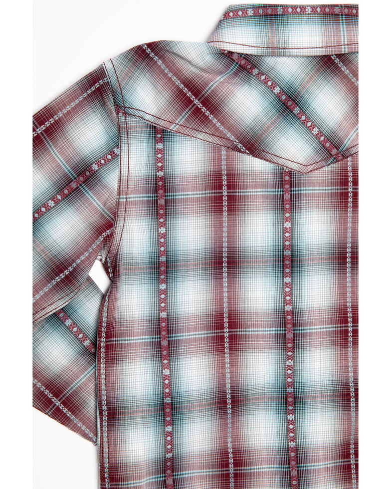 Cody James Toddler Boys' MC' Calister Plaid Long Sleeve Western Shirt , Blue, hi-res