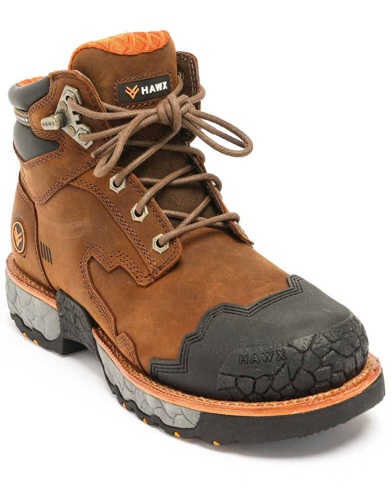 Hawx Men's Legion Work Boots - Round Toe, Brown, hi-res