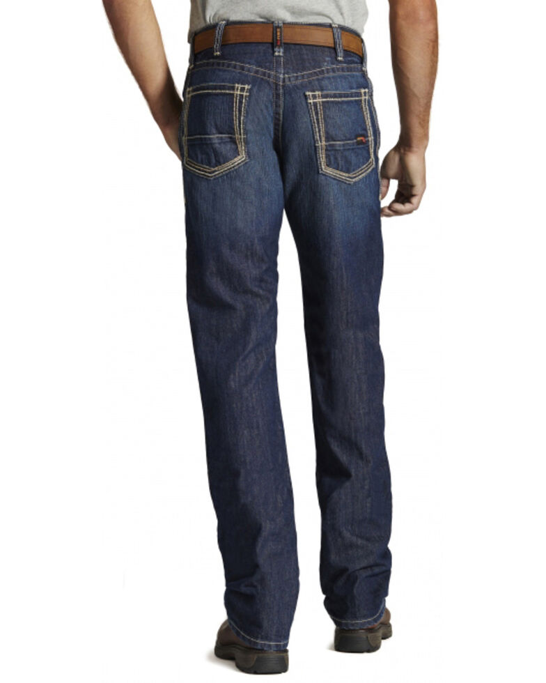 Ariat Men's Flame Resistant M4 Bootcut Work Jeans, Denim, hi-res