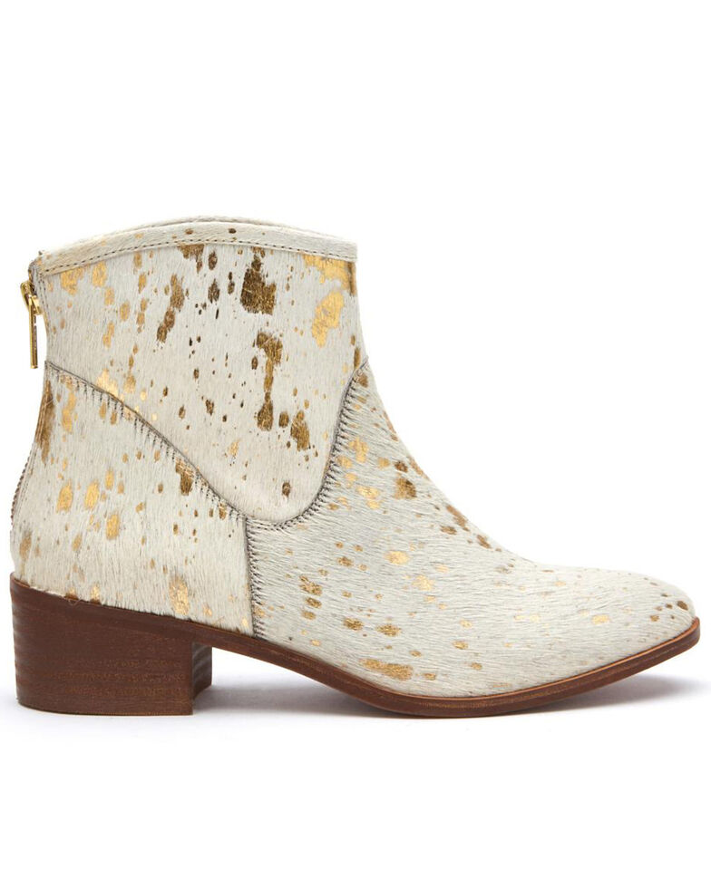 Matisse Women's Slow Down Gold Spot Fashion Booties - Round Toe, Gold, hi-res