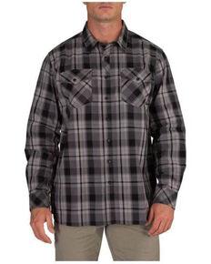 5.11 Tactical Men's Peak Plaid Long Sleeve Work Shirt , Charcoal, hi-res