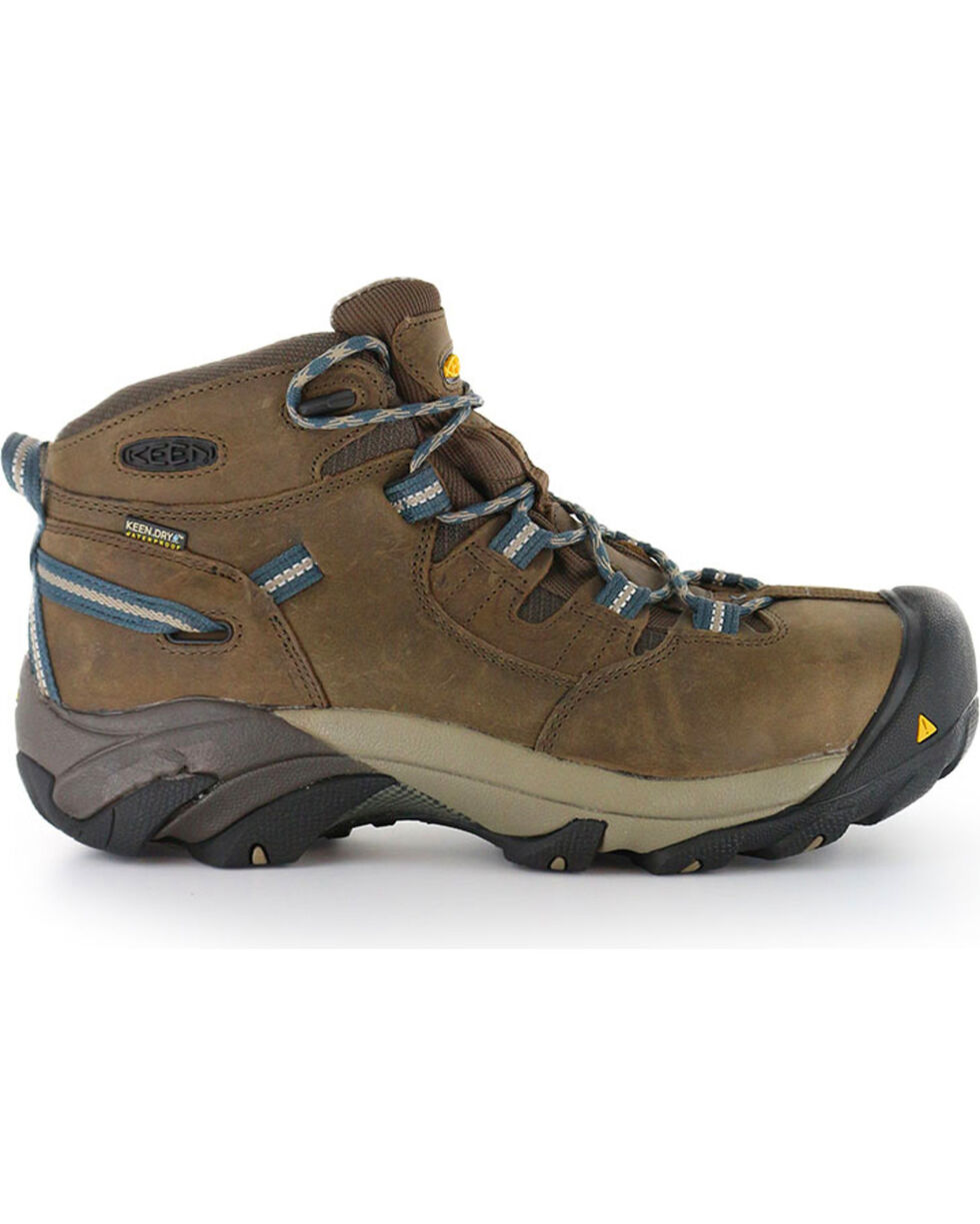 Keen Footwear Men's Detroit Mid Lace-Up Steel Toe Work Boots, Brown, hi-res