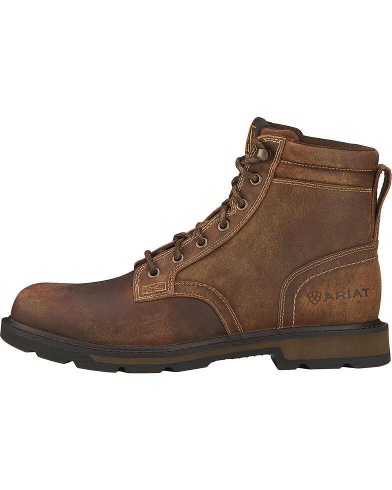 """Ariat Men's 6"""" Groundbreaker Lace-Up Work Boots, Brown, hi-res"""