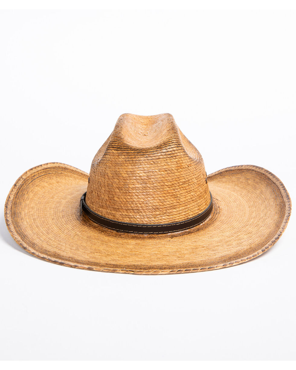 Cody James Boys' Toasted Palm Cross Cowboy Hat, Natural, hi-res