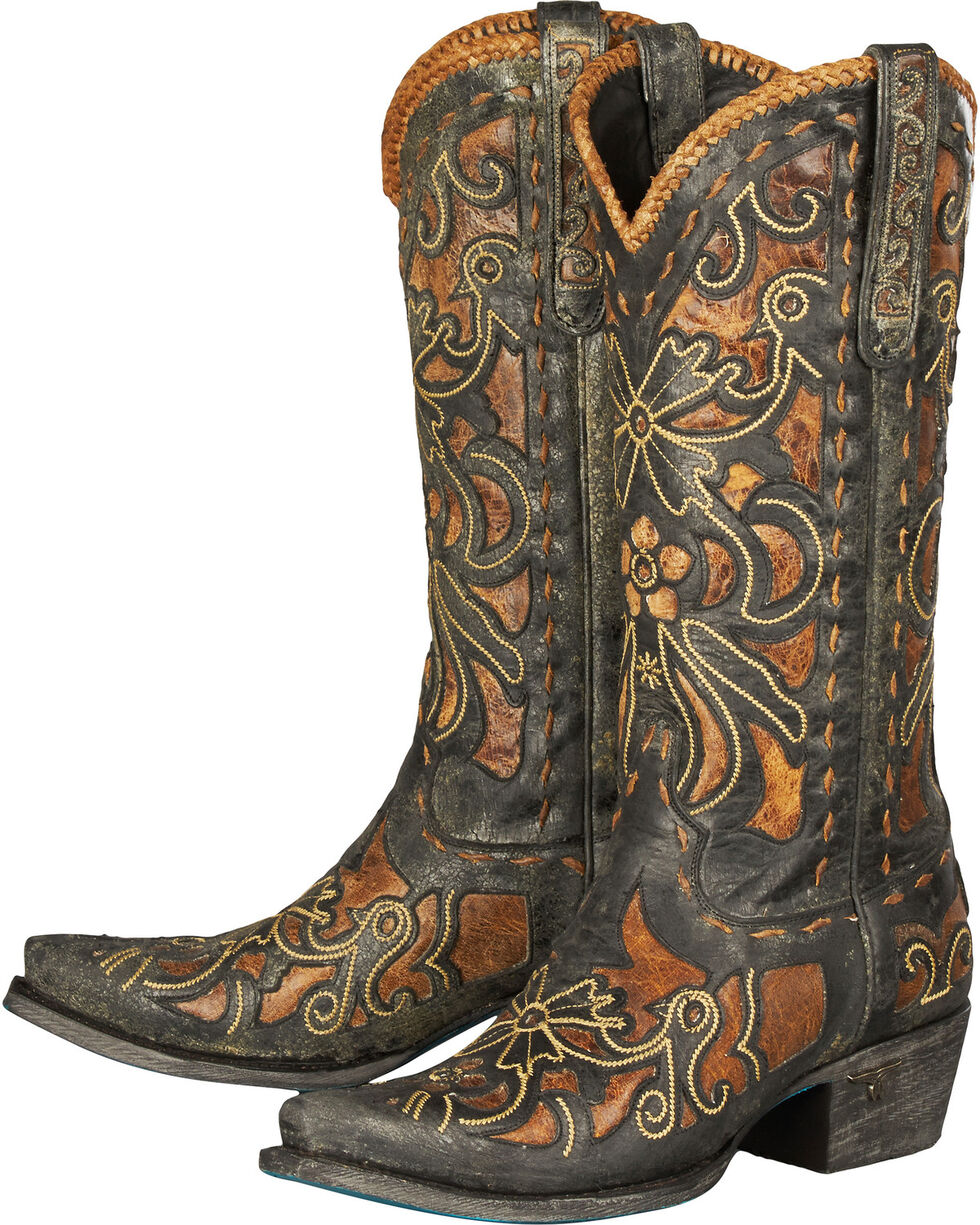 Lane Women's Robin Western Fashion Boots, Brown, hi-res