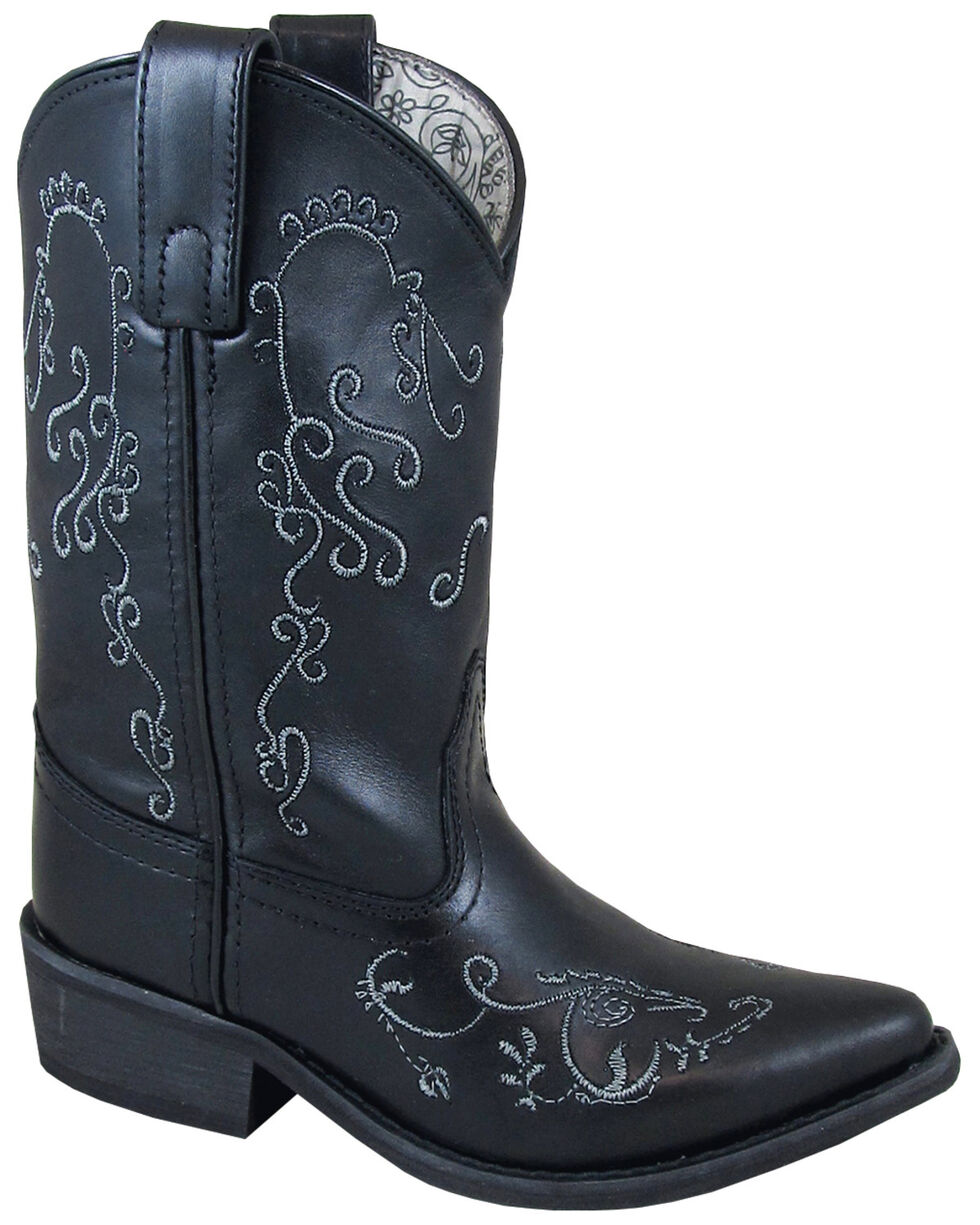 Smoky Mountain Girls' Florence Western Boots - Snip Toe, Black, hi-res