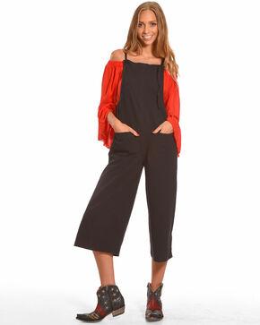 Polagram Women's Black Jumpsuit , Black, hi-res