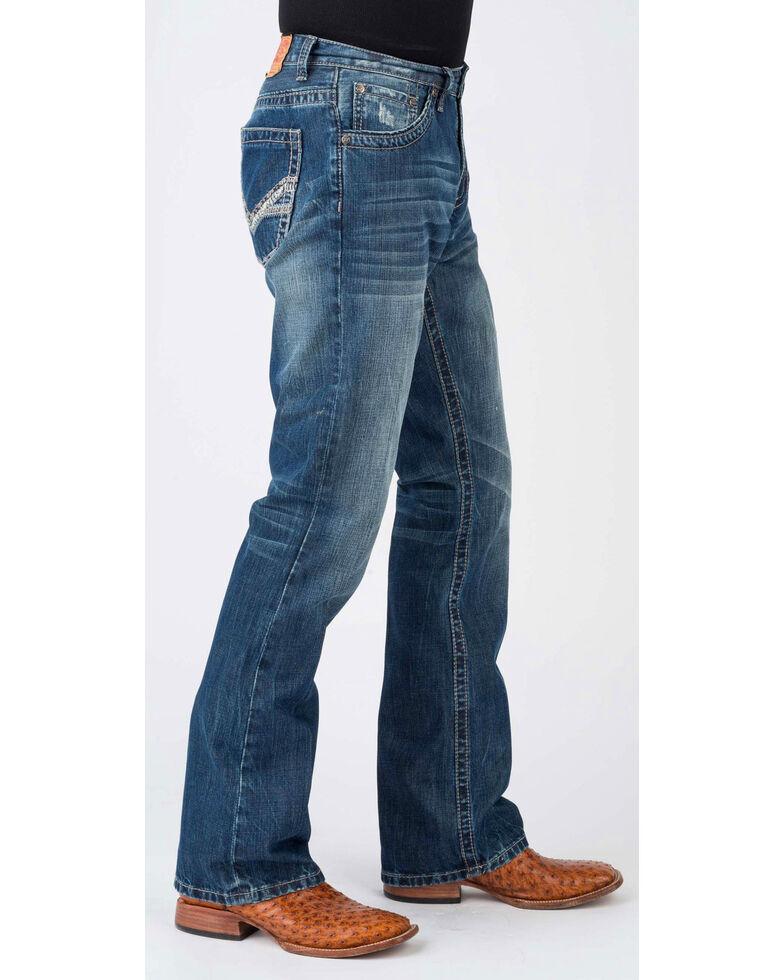 Stetson Men's 1014 Rocks Fit Bootcut Jeans, Blue, hi-res