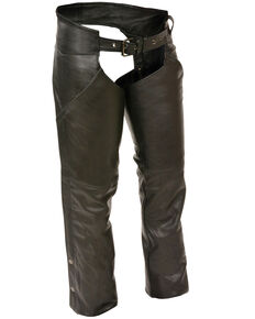 Milwaukee Leather Women's Hip Pocket Chaps - 3X, Black, hi-res
