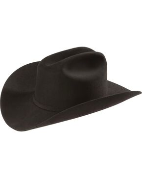 Larry Mahan 6X Real Black Fur Felt Western Hat, Black, hi-res