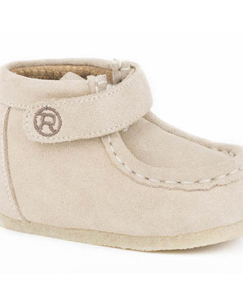 Roper Infant Boys' Tan Suede Poppet Boots - Moc Toe, Tan, hi-res