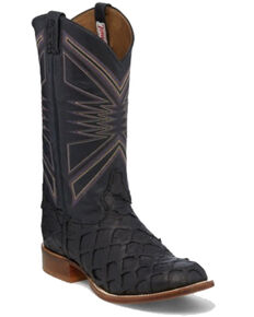 Tony Lama Men's Leviathan Black Western Boots - Square Toe, Black, hi-res