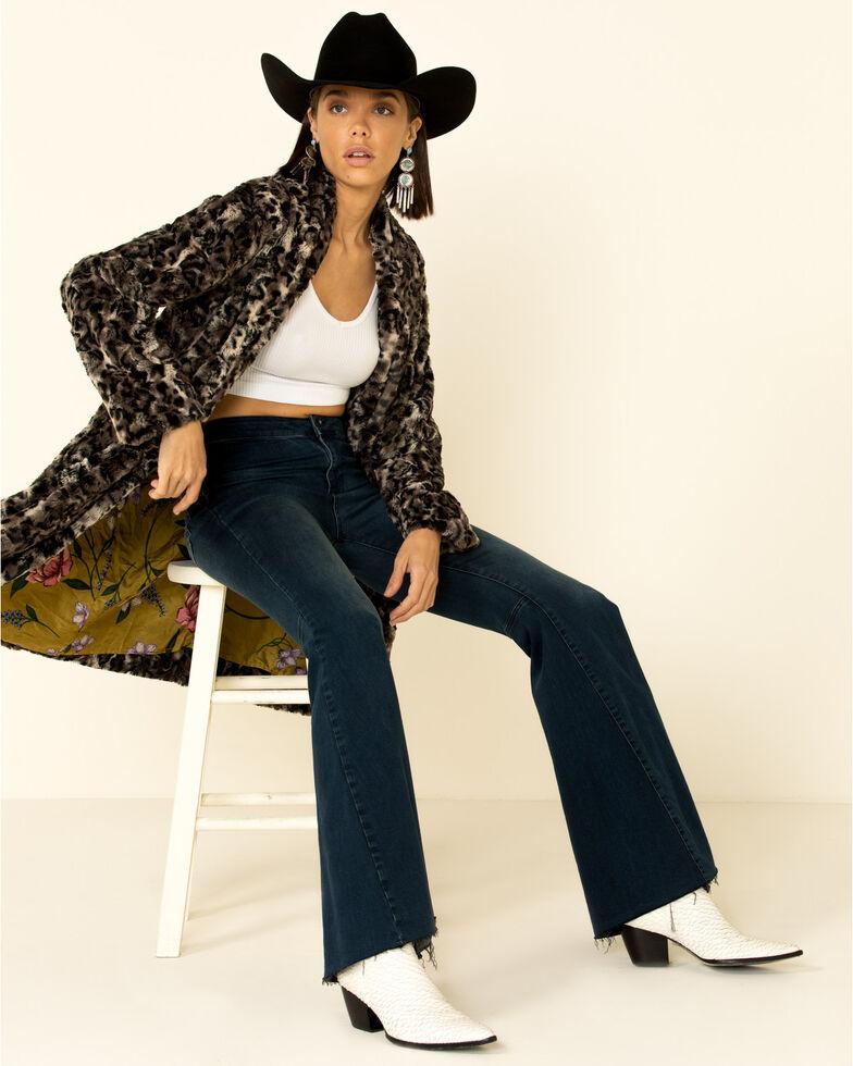 Johnny Was Women's Leopard Faux Fur Coat , Multi, hi-res