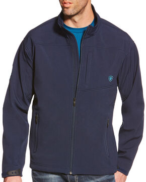Ariat Men's Team Logo Softshell Jacket, Navy, hi-res