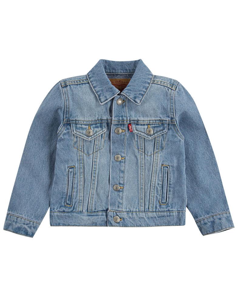 Levi's Toddler Boys' Light Wash Denim Trucker Jacket , Light Blue, hi-res