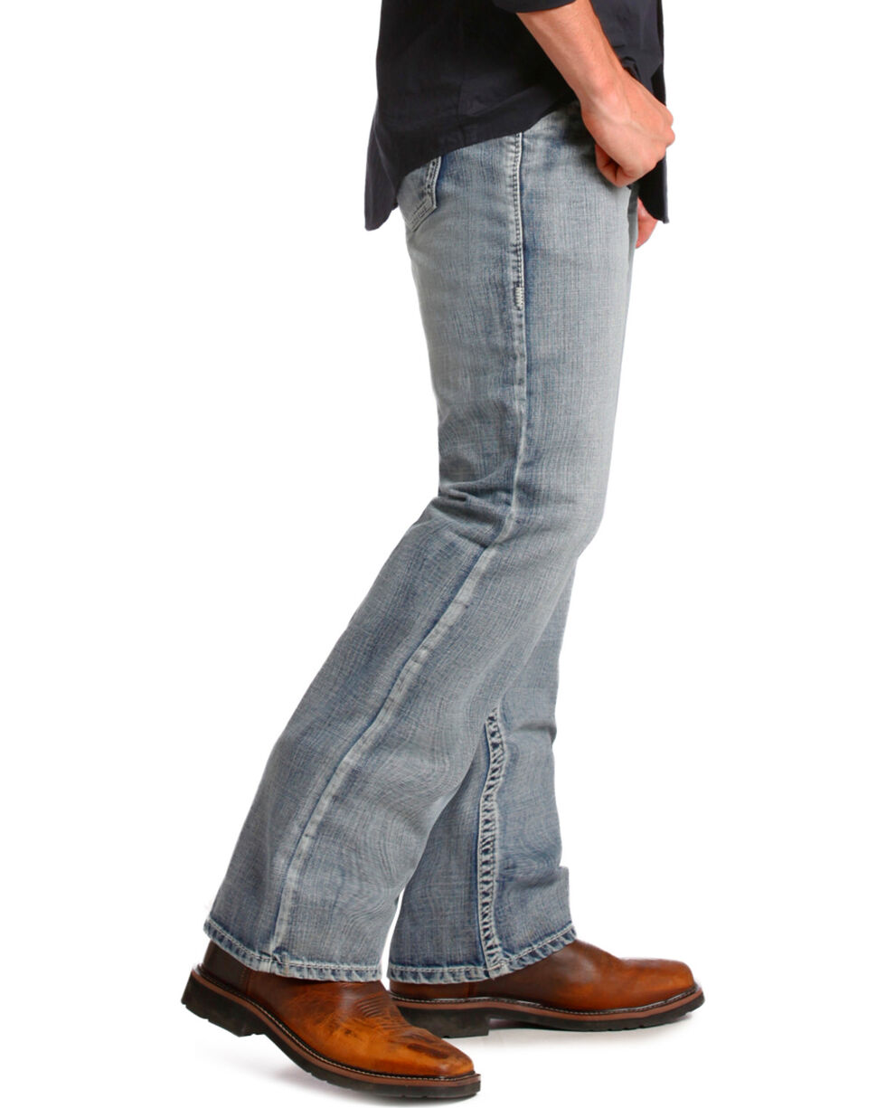 "Rock and Roll Cowboy Double Barrel ""V"" Relaxed Fit Jeans - Straight Leg , Denim, hi-res"