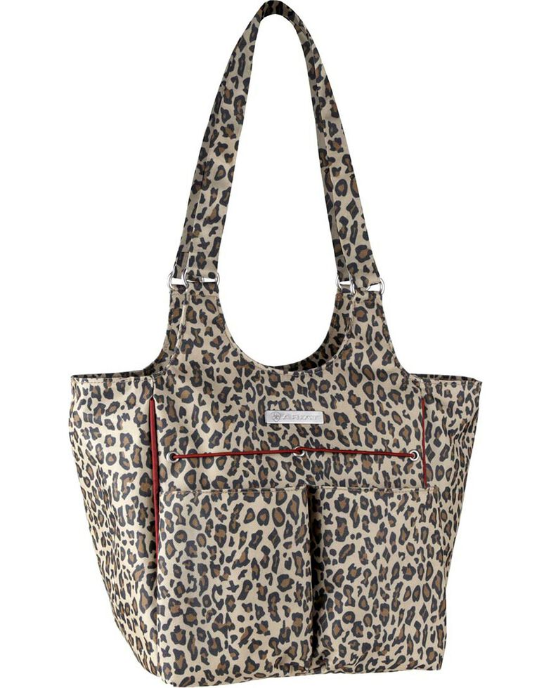 Ariat Mini Carry All Cheetah Print Poly Canvas Tote Bag, Cheetah, hi-res