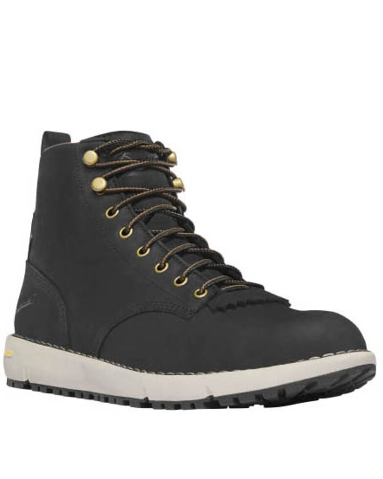Danner Men's Black Logger Boots - Soft Toe, Black, hi-res