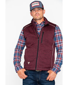 Cowboy Hardware Men's Simple Speckle Vest , Burgundy, hi-res