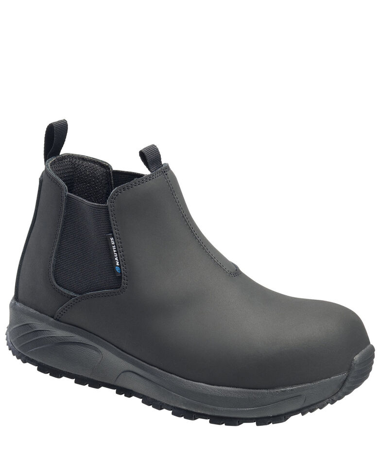 Nautilus Men's Guard Pull-On Work Shoes - Composite Toe, Black, hi-res
