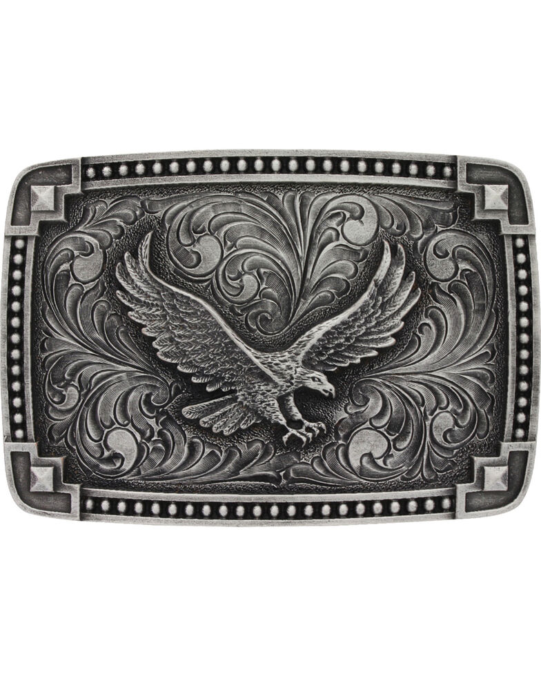 Montana Silversmiths Eagle Belt Buckle, Silver, hi-res