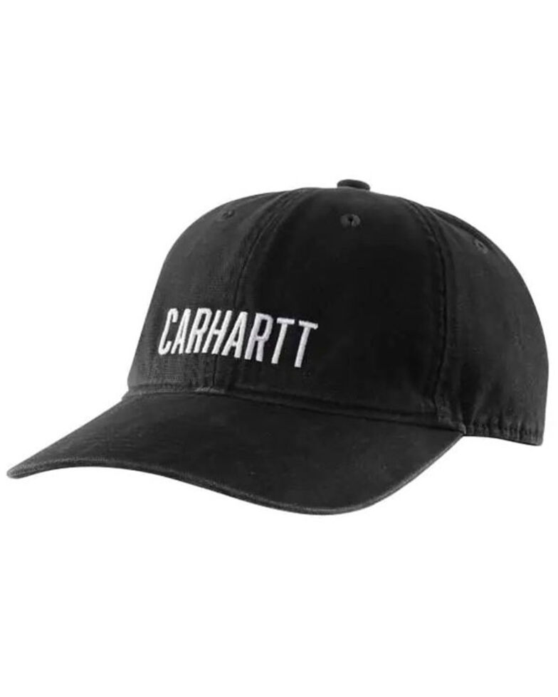 Carhartt Men's Force Full Back Canvas Logo Ball Cap , Black, hi-res