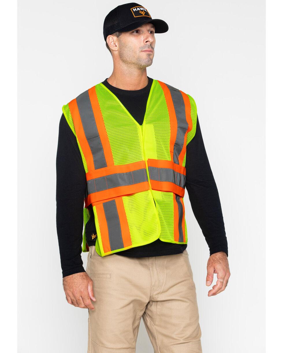Hawx® Men's 2-Tone Mesh Work XL Vest - Big & Tall, Yellow, hi-res