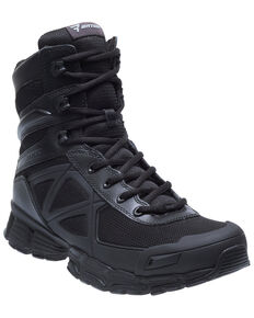 "Bates Men's 8"" Velocitor Work Boots - Soft Toe, Black, hi-res"