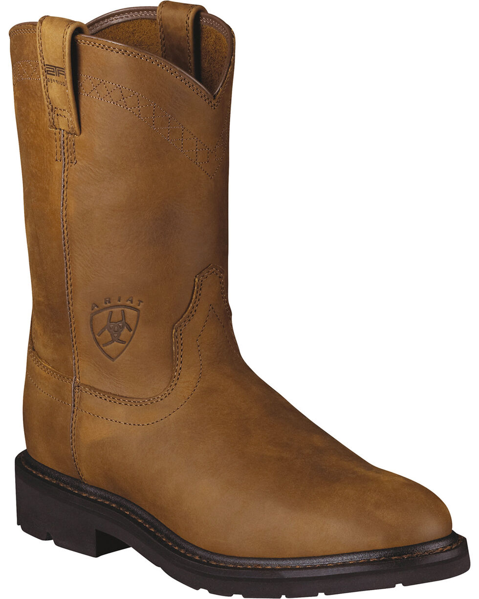 Ariat Men's Sierra Steel Toe Work Boots, Aged Bark, hi-res