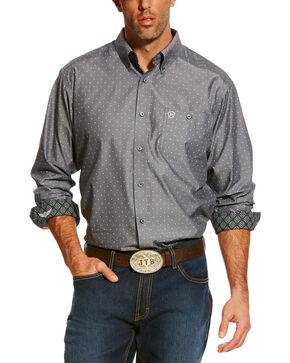 Ariat Men's Conquer Long Sleeve Shirt , Black, hi-res