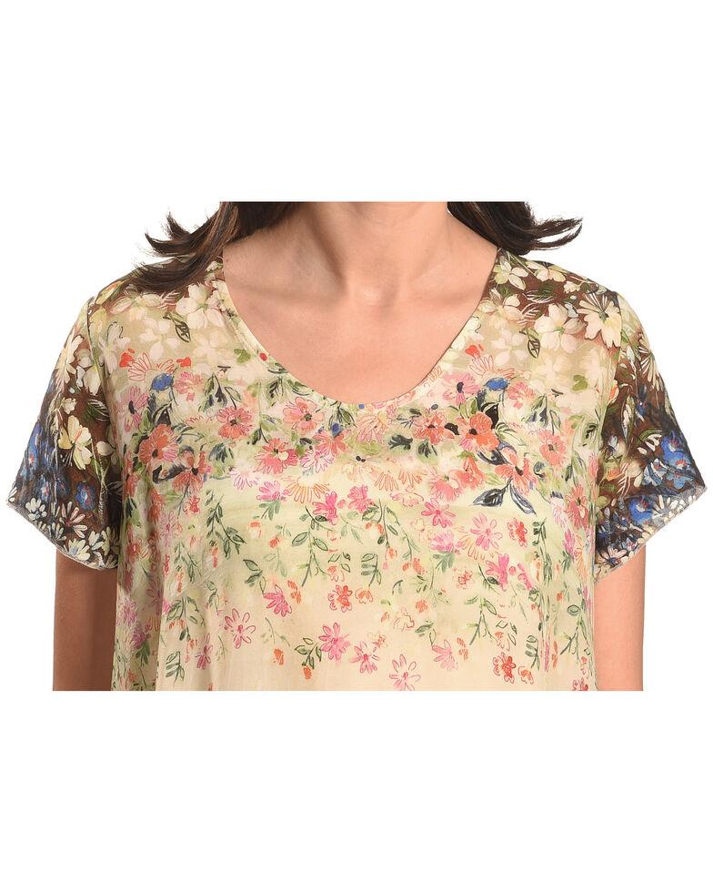 Johnny Was Women's Ziara Handkerchief Babydoll Shirt , Multi, hi-res