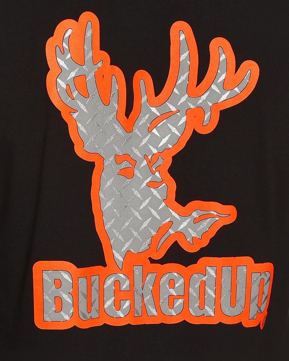 Bucked Up Men's Black Diamond Plate Logo Tee , Black, hi-res