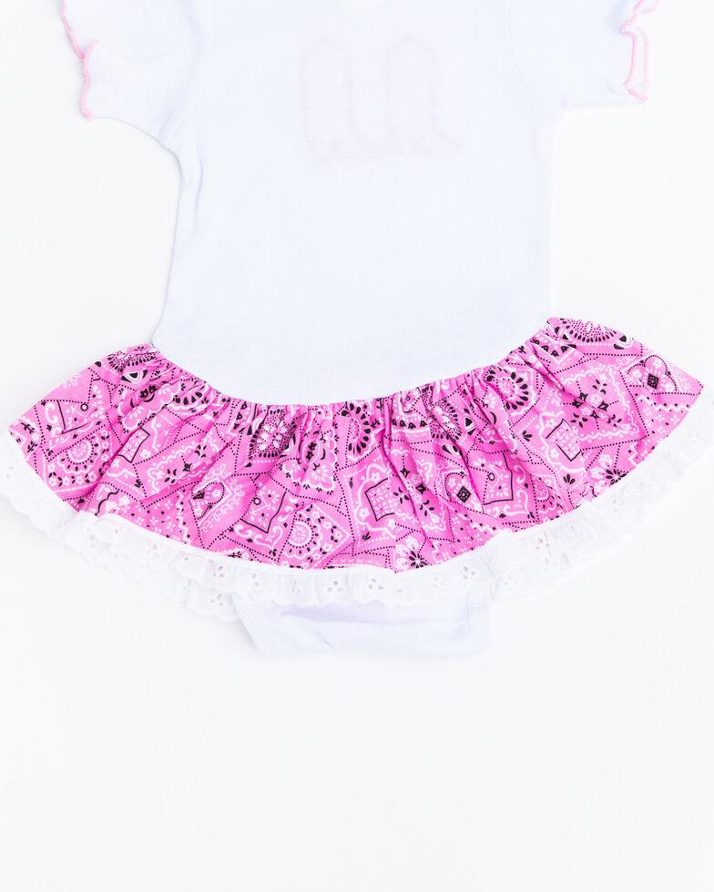 Baby Korral Infant Girl's Paisley Ruffle Onesie, Pink, hi-res