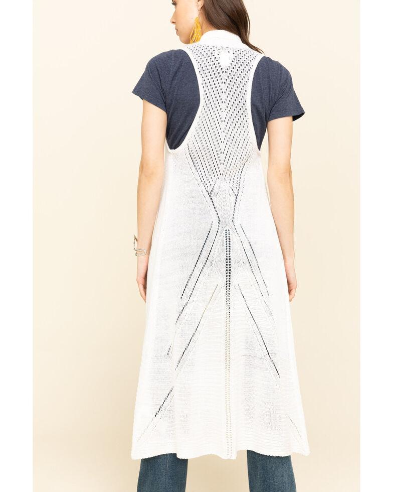 Ariat Women's Reba Sweater Vest, Ivory, hi-res