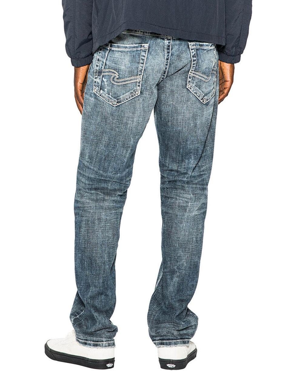 Silver Men's Eddie Relaxed Fit Straight Leg Jeans, Indigo, hi-res