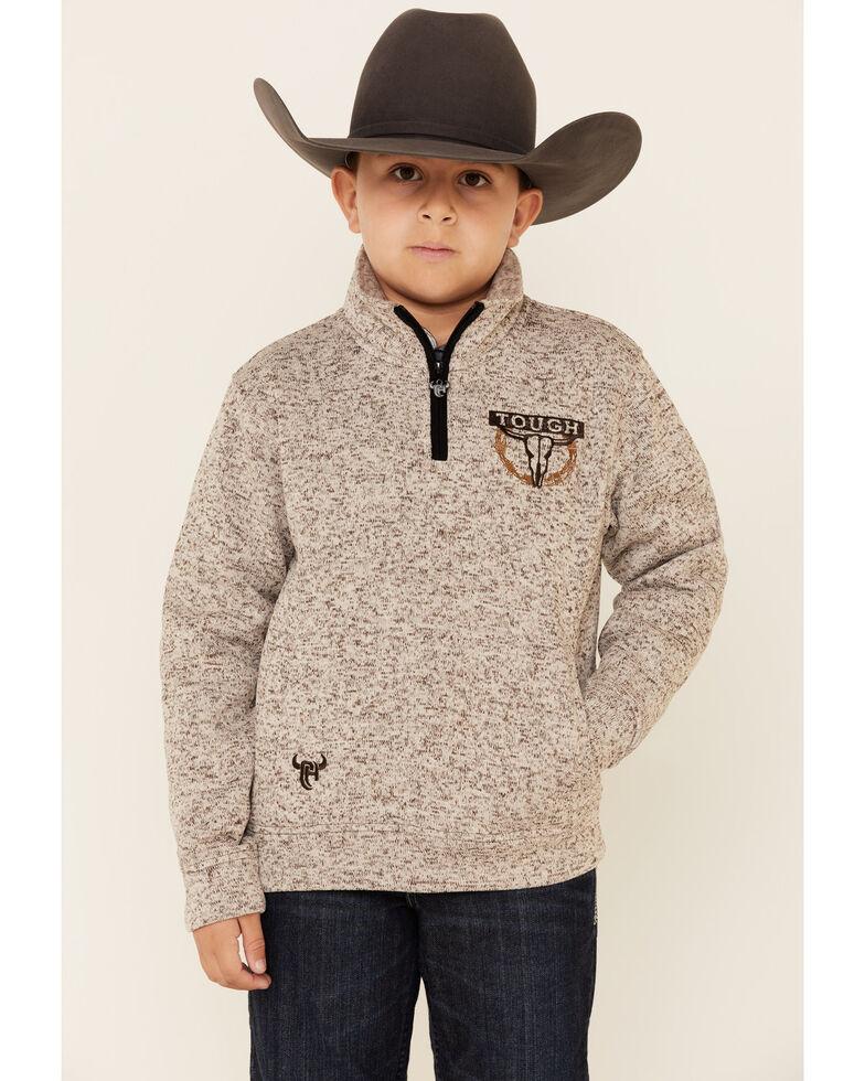 Cowboy Hardware Boys' Oatmeal Marled Tough Pullover , Oatmeal, hi-res