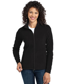 Port Authority Women's Black 2x Micro Fleece Jacket - Plus, Black, hi-res