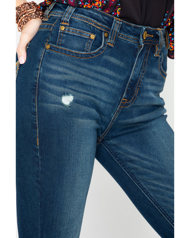 Rock &Roll Cowgirl Women's High Rise Skinny Jeans, Blue, hi-res