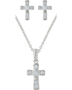 Montana Silversmiths Mark of Faith Jewelry Set, Silver, hi-res