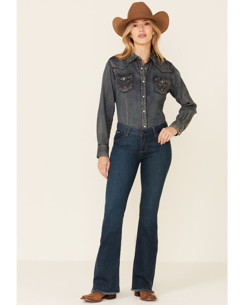 Kimes Ranch Women's Dark Wash Lola Raw Trousers, Blue, hi-res