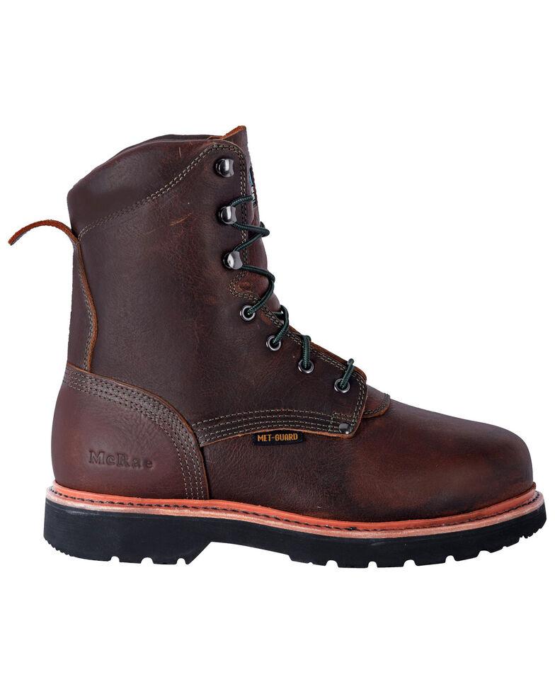"""McRae Men's 8"""" Met Guard Extreme Work Boots - Steel Toe, Brown, hi-res"""