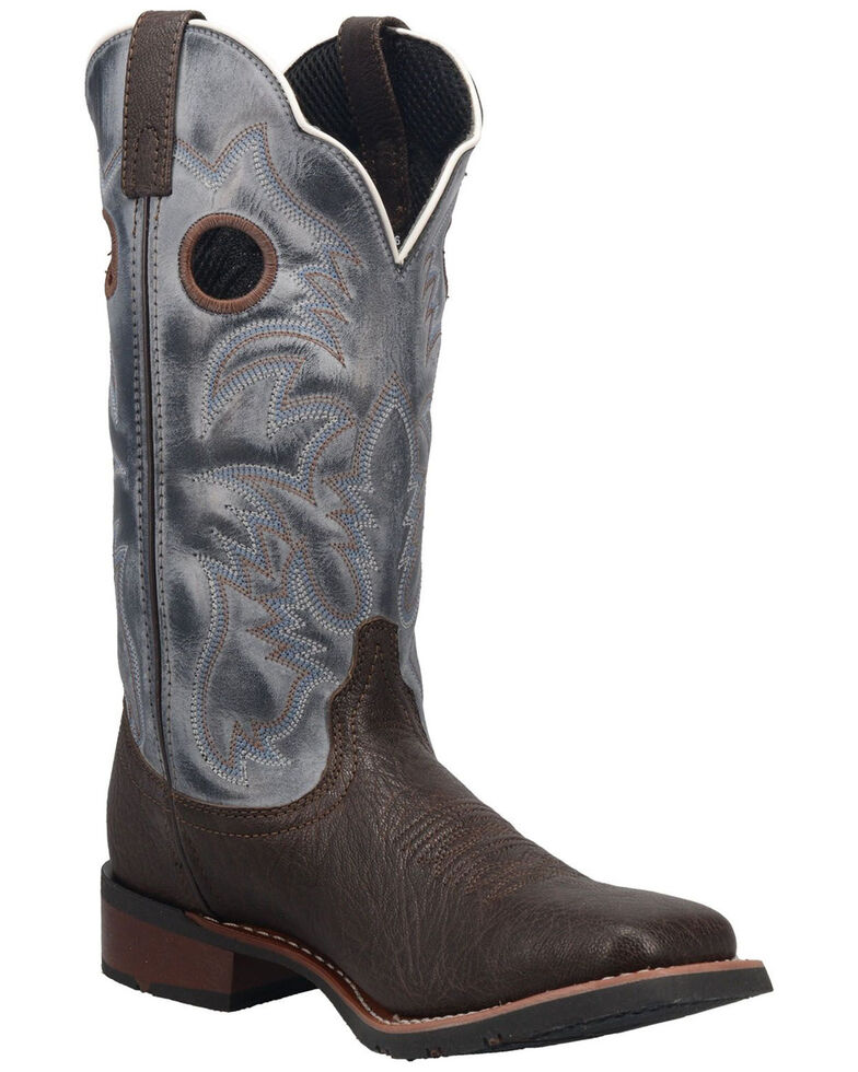 Laredo Men's Taylor Western Boots - Wide Square Toe, Brown, hi-res
