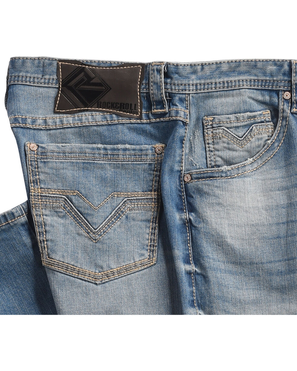 Tuf Cooper Men's Blue Reflex Straight Leg Jeans , Blue, hi-res