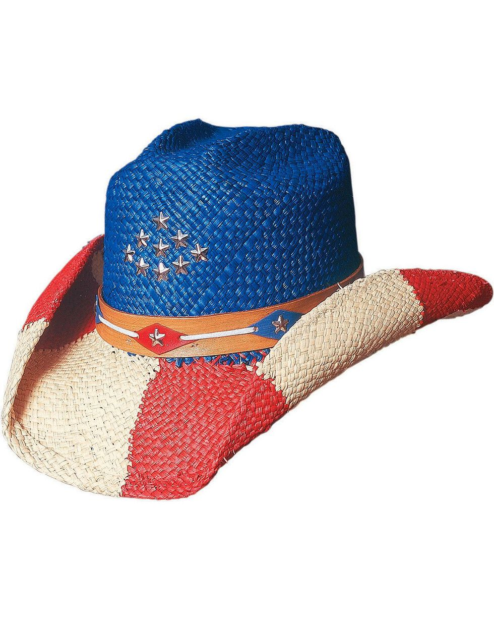 Bullhide Women's The Patriot Straw Hat, Multi, hi-res