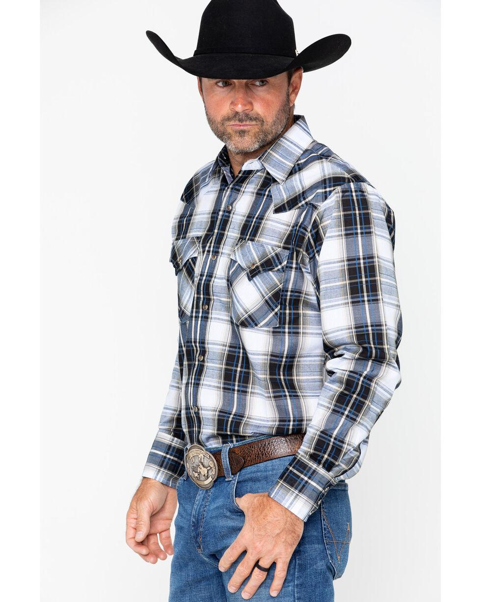 Ely Cattleman Men's Textured Large Plaid Shirt , Black, hi-res