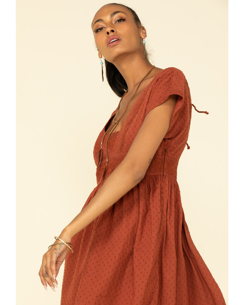 Shyanne Women's Embroidered Summer Dress , Rust Copper, hi-res