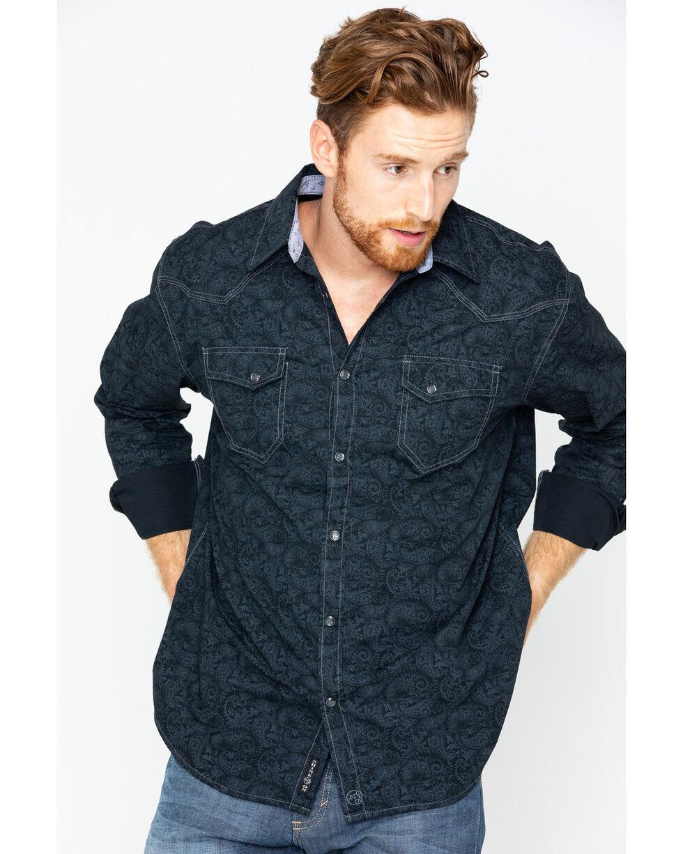 Moonshine Spirit Men's 200 Proof Long Sleeve Shirt, Black, hi-res