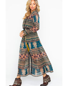 Aratta Women's Me And You Maxi Dress , Dark Blue, hi-res