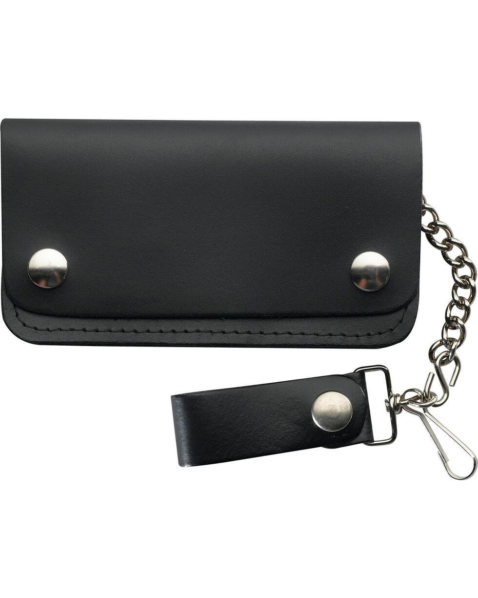 Western Express Men's Black Leather Biker Wallet , Black, hi-res